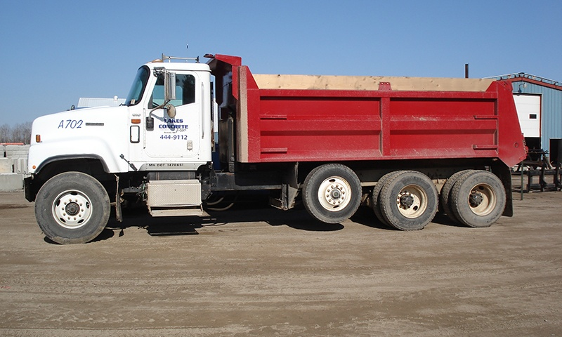Lakes Concrete Plus dump truck