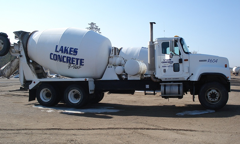 Lakes Concrete plus cement truck